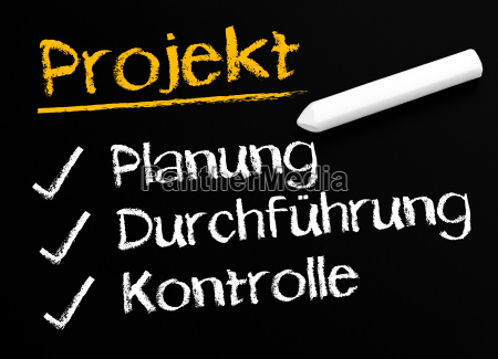 project planning implementation control