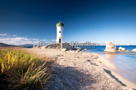 strand palau sardinien leuchturm leuchtturm italien