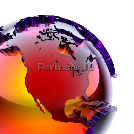 globe of colored glass with an
