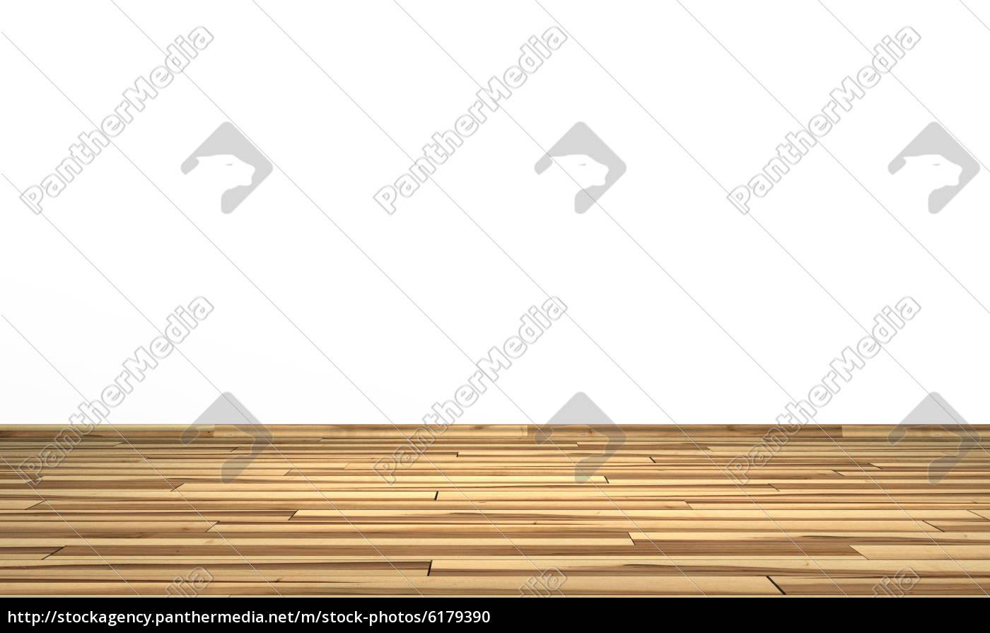 weisse wand mit holzboden - esche olive - stock photo - #6179390