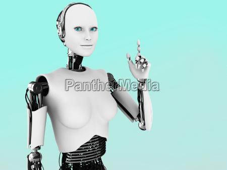 roboter frau die eine idee