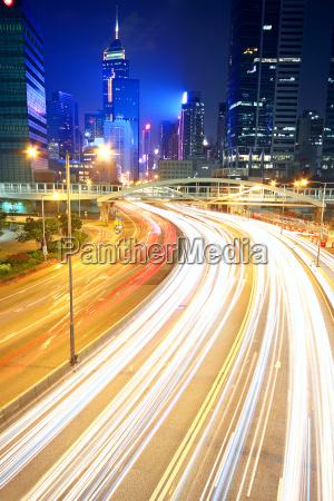 traffic in downtown in hong kong