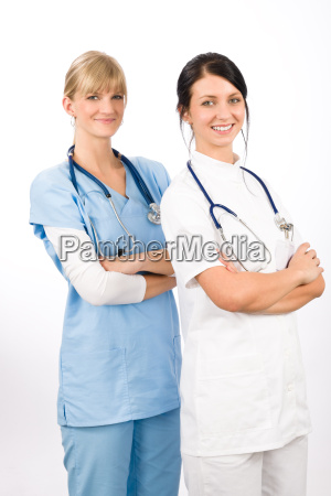 medical team doctor young nurse female