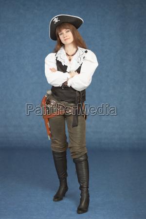 sexy frau pirat mit einer