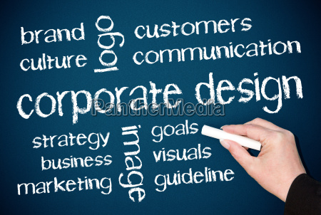 corporate design business concept