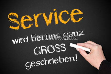 service is written with us very