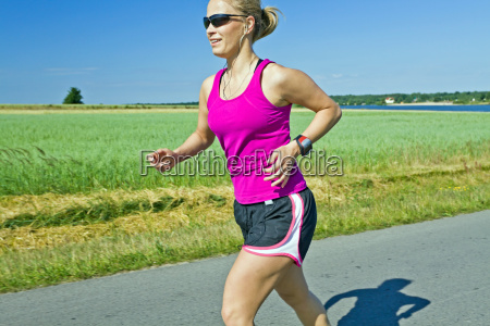 running woman with music