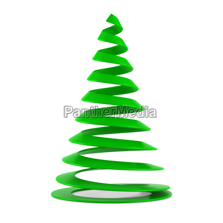 stylized christmas tree in blue glass