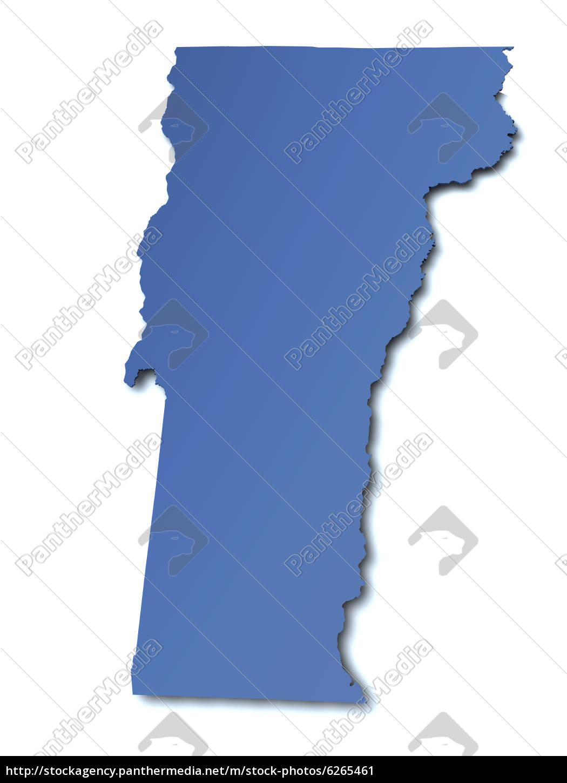Stockfoto 6265461 - Karte von Vermont USA