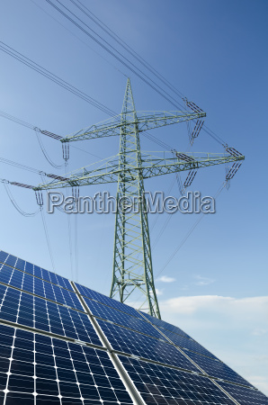 solar modules and electricity load with
