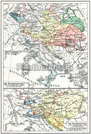 karte von OEsterreich ungarn vom 17