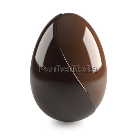 chocolate easter egg on white background