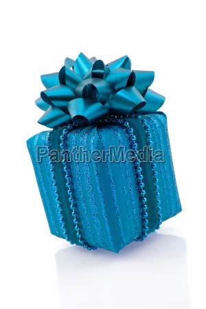 blau praesentieren geschenk veranstaltung festlich gabe