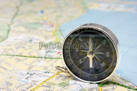 kompass auf dublin stadtplan