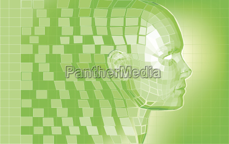 futuristische avatar polygonnetz hintergrund