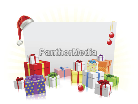 weihnachtsgeschenke und zeichen konzept