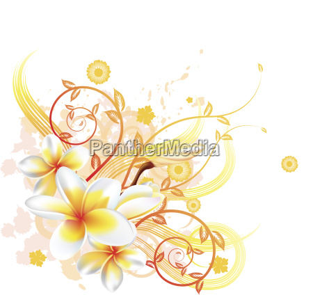 cool floral background