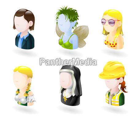 avatar gerecht internet icon set