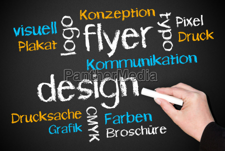 flyers and design business concept