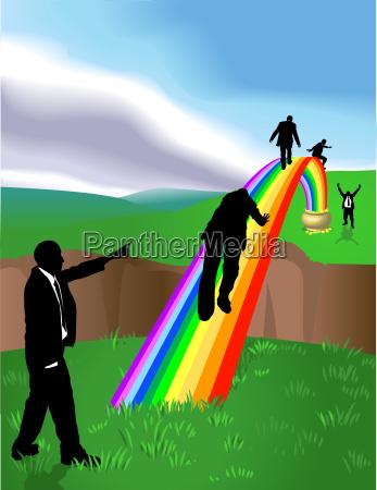 regenbogen business konzept illustration