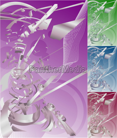 futuristic exploding technology background