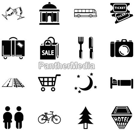 lage tourismus symbole
