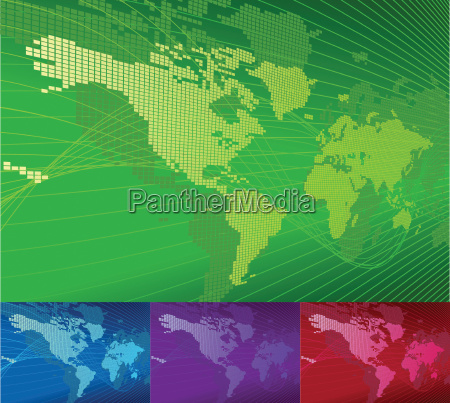 a dynamic 3d world map with