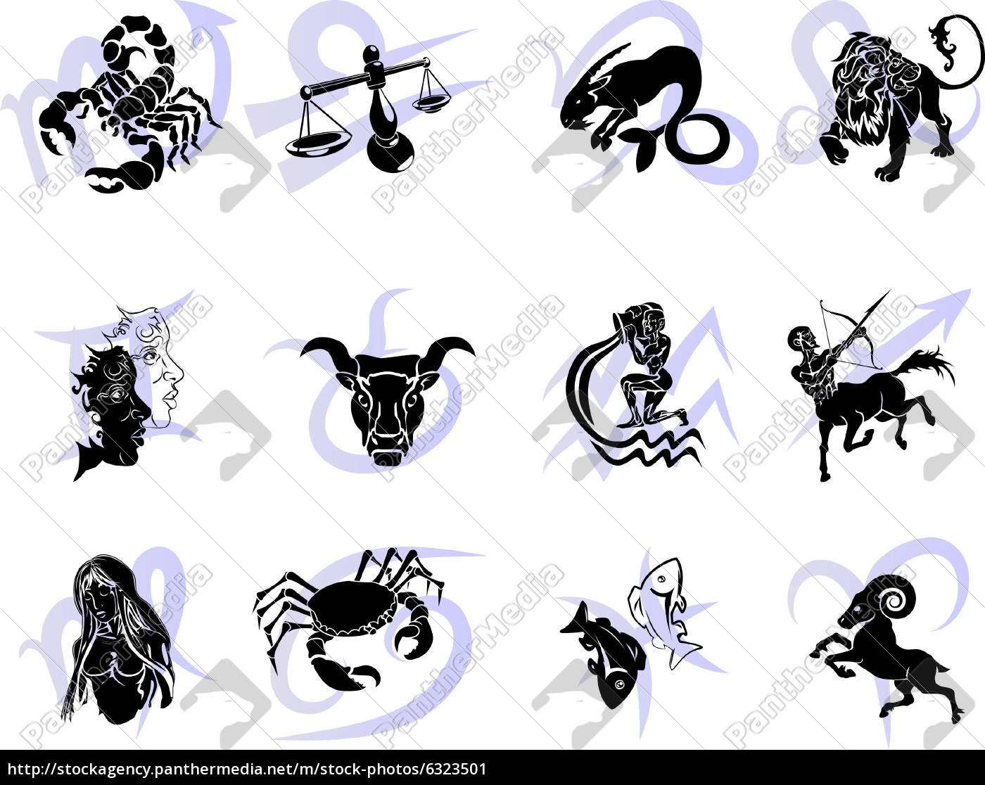 zw lf horoskop sternzeichen sternzeichen lizenzfreies bild 6323501 bildagentur panthermedia. Black Bedroom Furniture Sets. Home Design Ideas