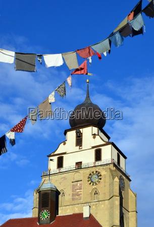 church in herrenberg at carnival time