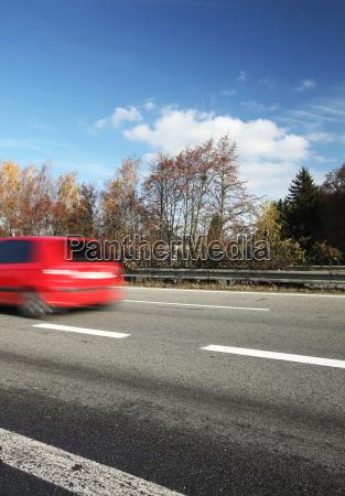 speeding concept car moving fast