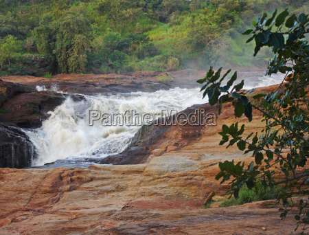 raging torrent at murchison falls