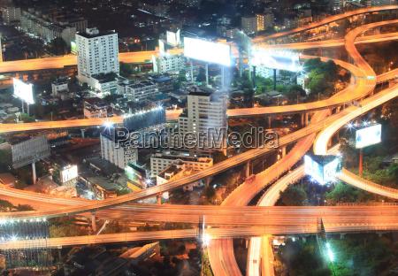 bangkok highway closeup