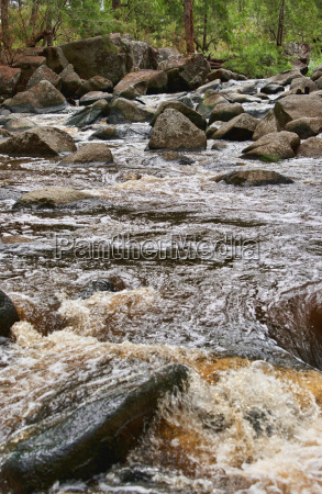 rushing water in river