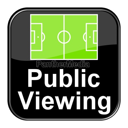 glossy button schwarz public viewing