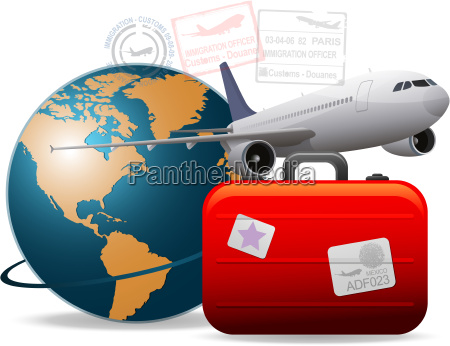 travel airplane concept