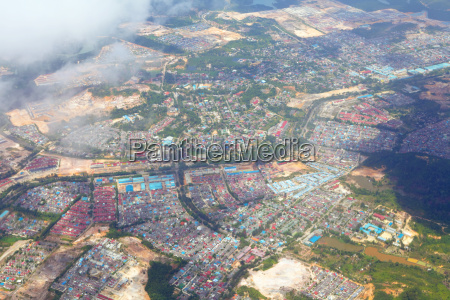 aerial picture of non urban city