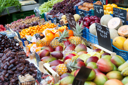 market stall with fruit