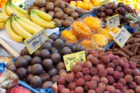 market stall with fresh fruit