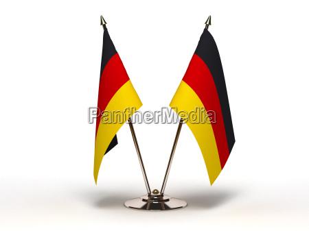 miniatur flagge von deutschland isoliert