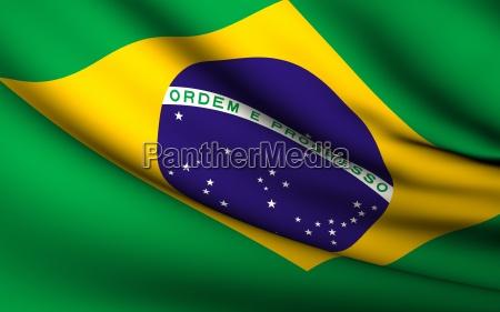 fliegende flagge von brasilien alle laender