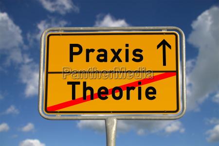 deutsches ortsschild theorie praxis