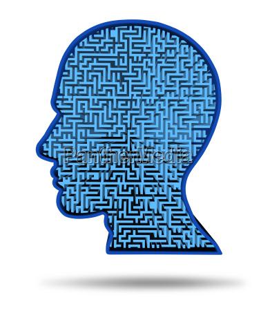 menschliches intelligenzforschungssymbol