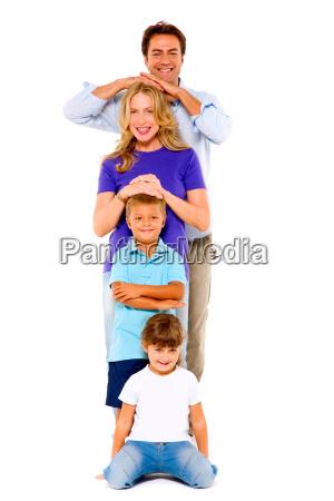 paar mit zwei kindern