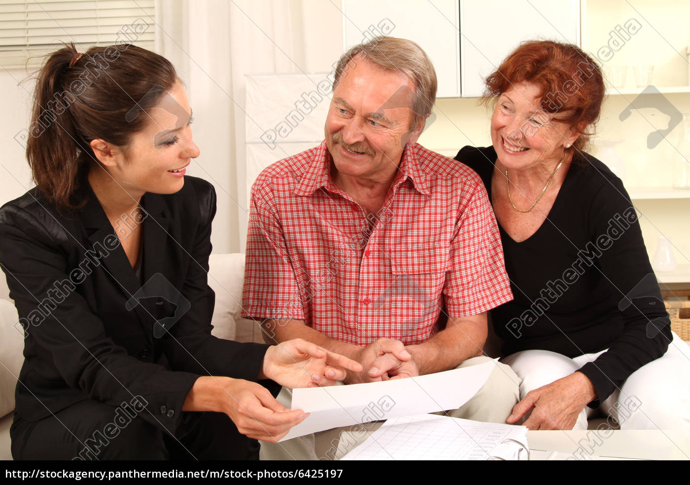 beratungsgespräch, im, wohnzimmer - 6425197
