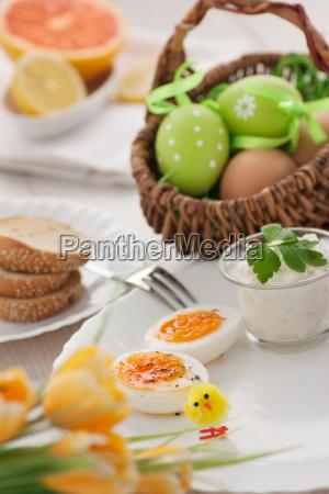 traditionelles osterfruehstueck