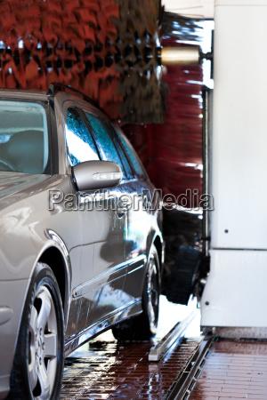 car in the car wash