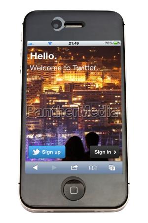 apple iphone und twitter