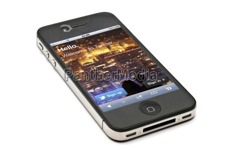 apple iphone 4s und twiiter