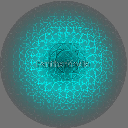 abstract ball grid movement