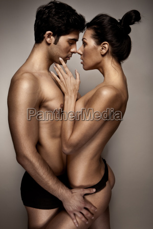 romantic couple in lingerie